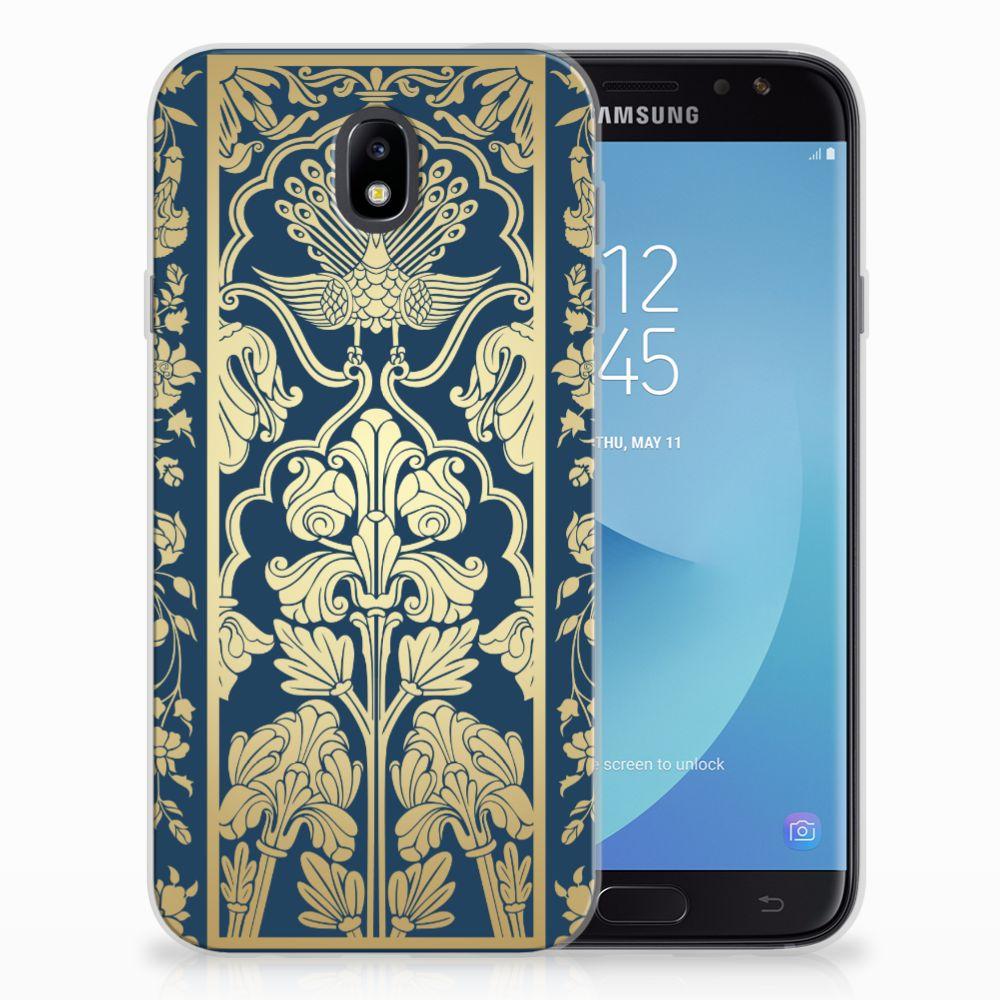 Samsung Galaxy J7 2017 | J7 Pro TPU Hoesje Golden Flowers