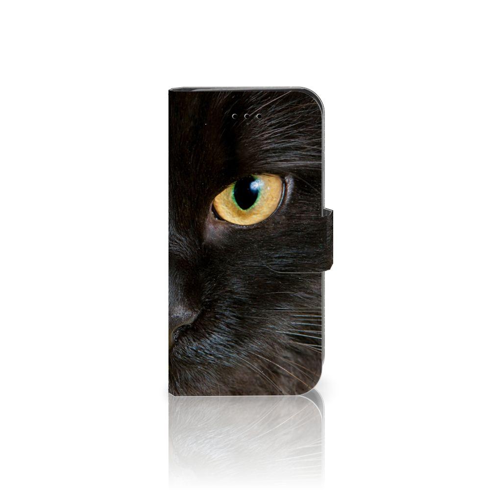 iPhone 7 | 8 | SE (2020) Telefoonhoesje met Pasjes Zwarte Kat