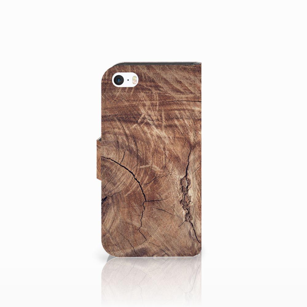 Apple iPhone 5 | 5s | SE Book Style Case Tree Trunk