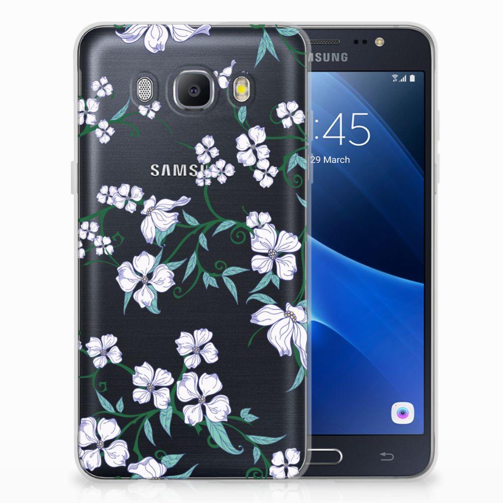 Samsung Galaxy J5 2016 Uniek TPU Hoesje Blossom White