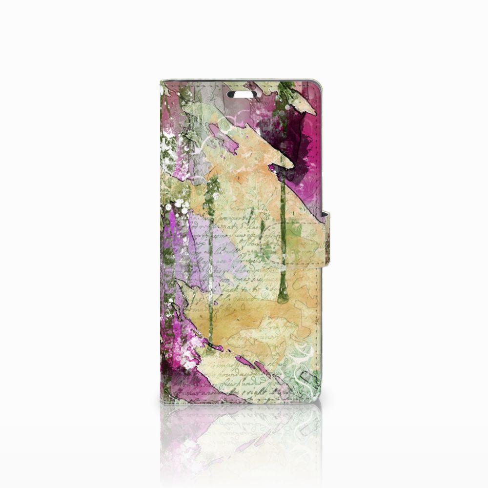 Sony Xperia C5 Ultra Uniek Boekhoesje Letter Painting