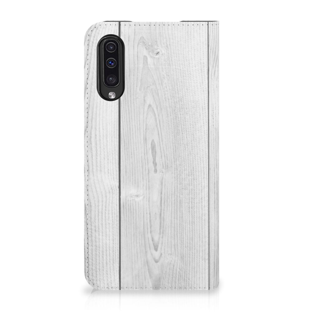 Samsung Galaxy A50 Book Wallet Case White Wood