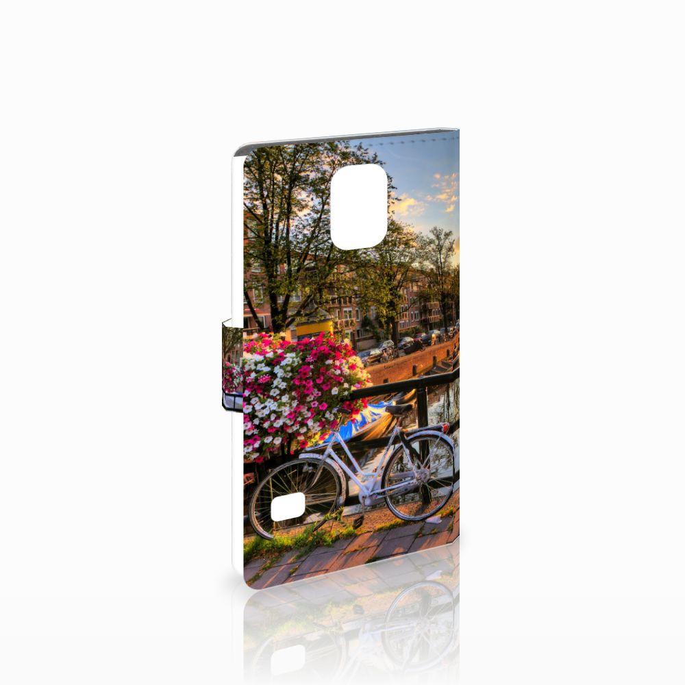 Samsung Galaxy S5 | S5 Neo Uniek Boekhoesje Amsterdamse Grachten