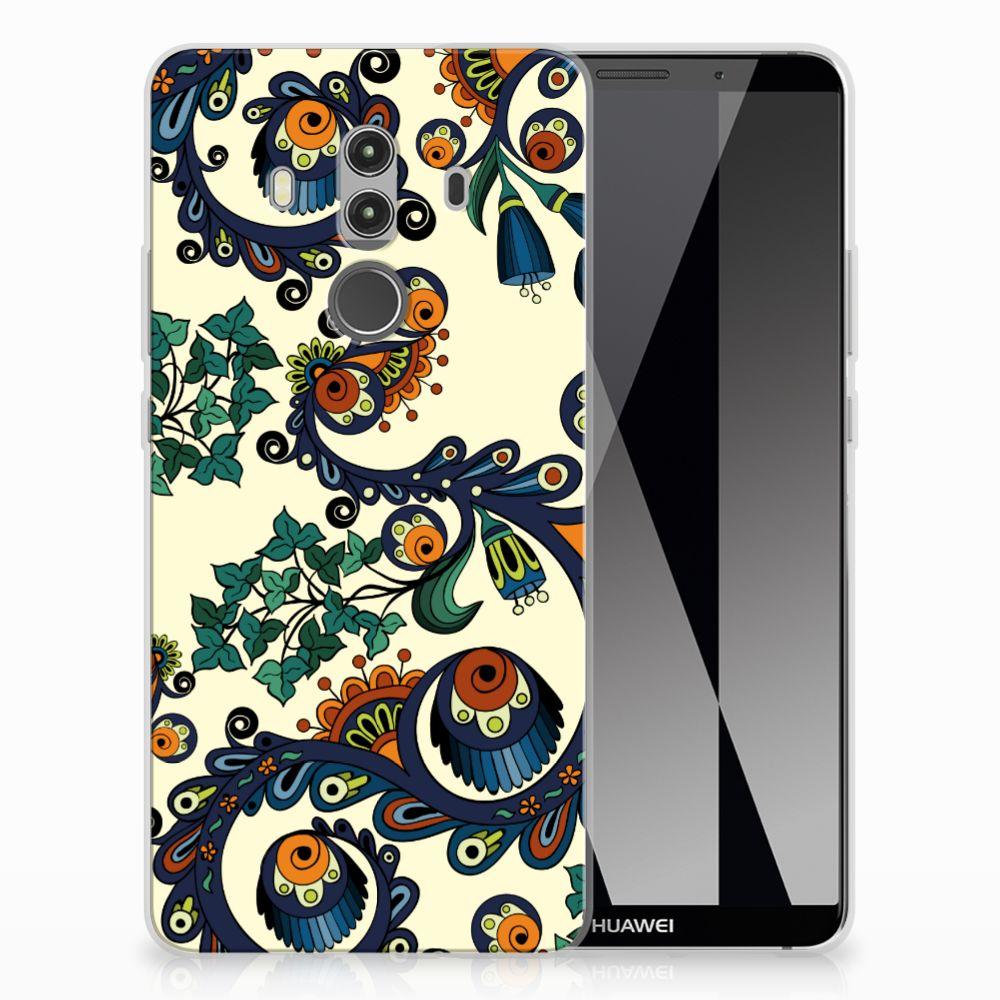 Siliconen Hoesje Huawei Mate 10 Pro Barok Flower