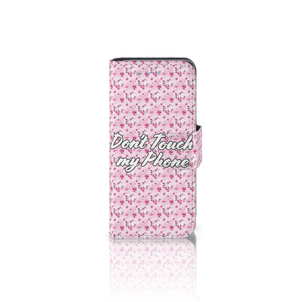 Samsung Galaxy S4 Mini i9190 Uniek Boekhoesje Flowers Pink DTMP