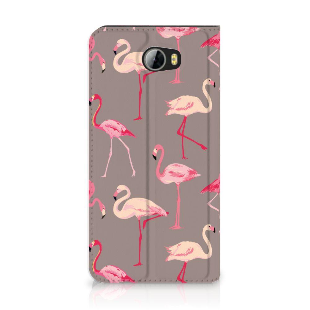 Huawei Y5 2 | Y6 Compact Uniek Standcase Hoesje Flamingo