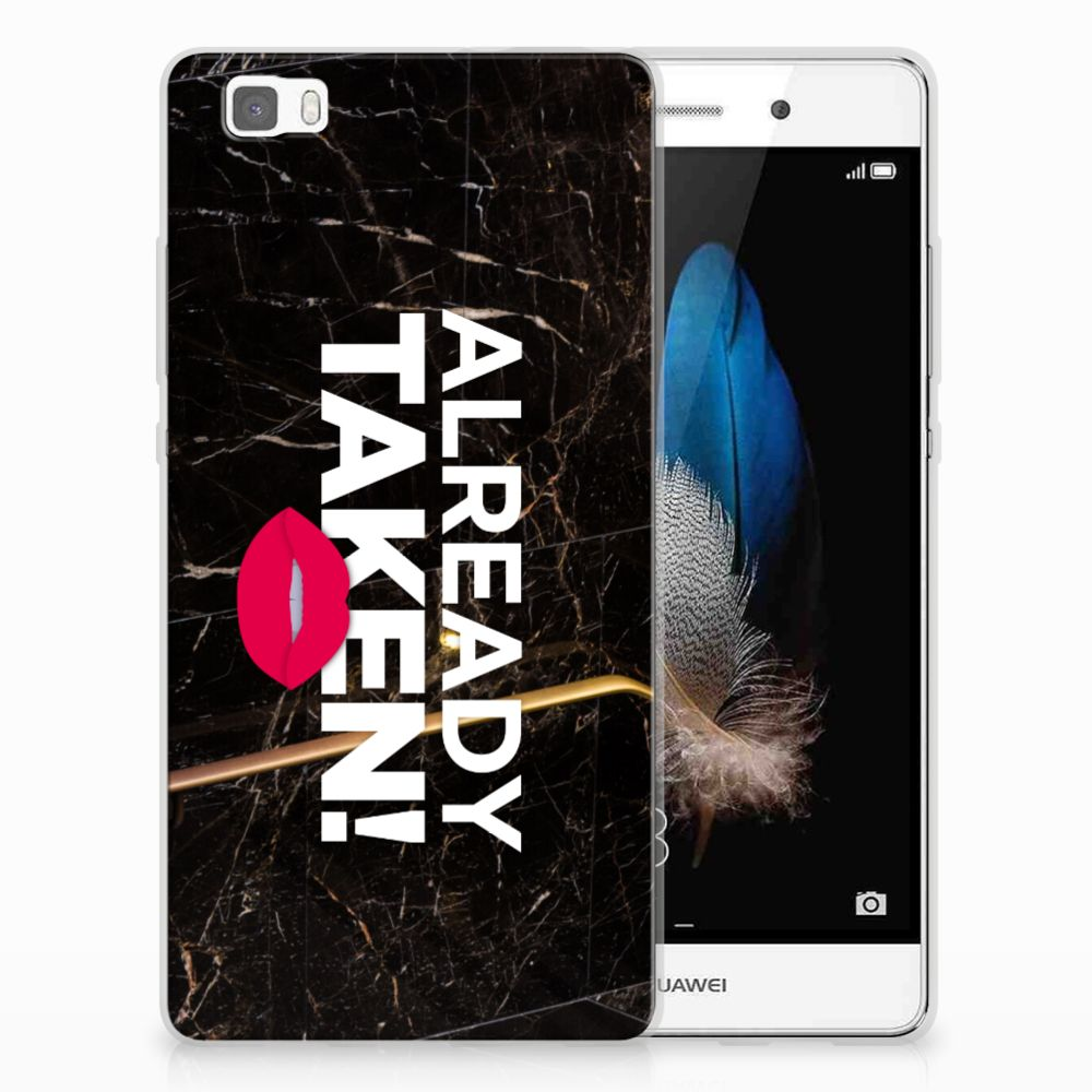 Huawei Ascend P8 Lite Siliconen hoesje met naam Already Taken Black