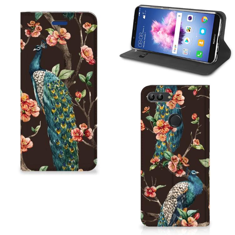 Huawei P Smart Hoesje maken Pauw met Bloemen