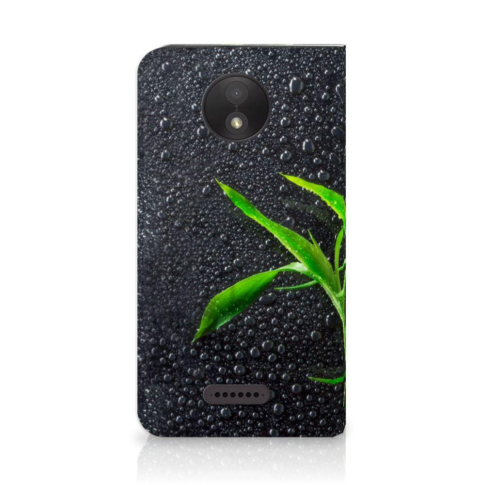 Motorola Moto C Plus Standcase Hoesje Design Orchidee