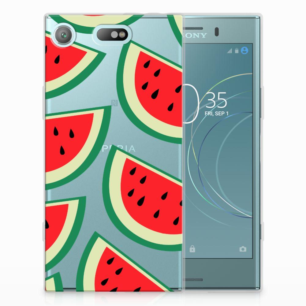 Sony Xperia XZ1 Compact Uniek TPU Hoesje Watermelons
