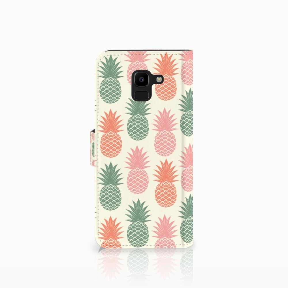 Samsung Galaxy J6 2018 Book Cover Ananas