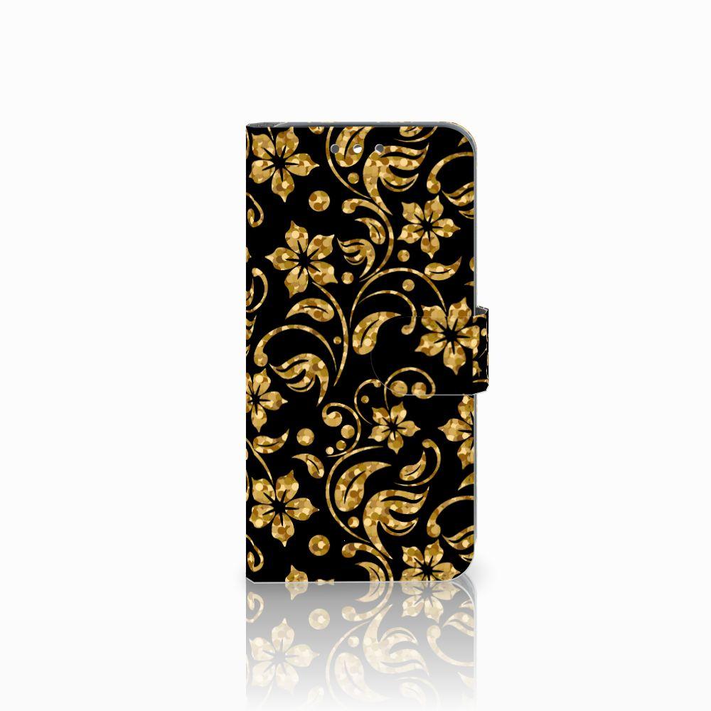 Wiko Wim Boekhoesje Design Gouden Bloemen