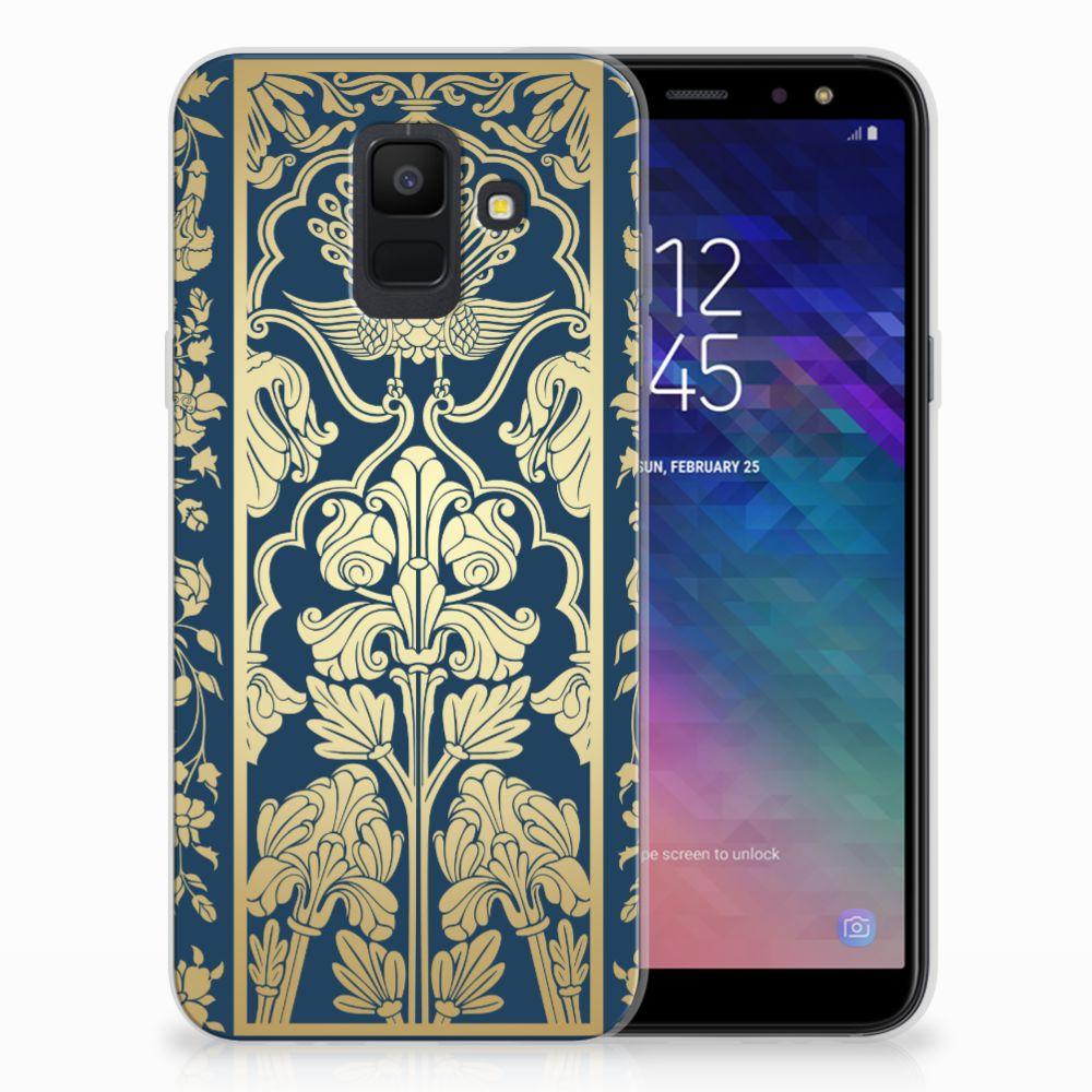 Samsung Galaxy A6 (2018) TPU Hoesje Golden Flowers