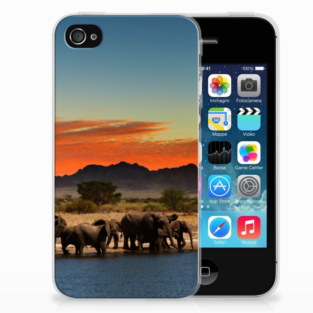 Apple iPhone 4 | 4s TPU Hoesje Design Olifanten