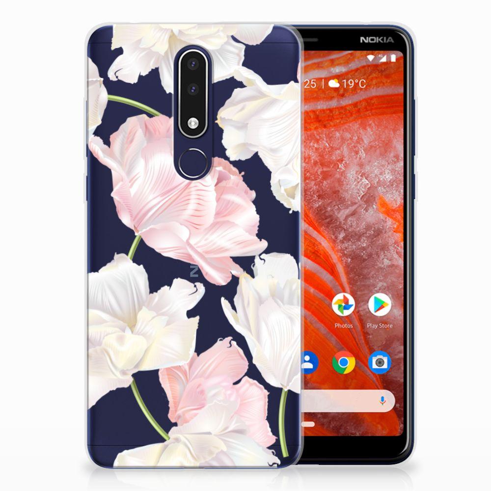 Nokia 3.1 Plus TPU Case Lovely Flowers