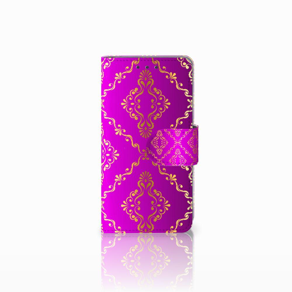 Samsung Galaxy A3 2015 Uniek Boekhoesje Barok Roze