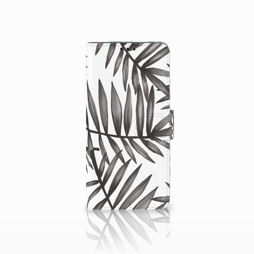 Huawei P Smart Plus Uniek Boekhoesje Leaves Grey