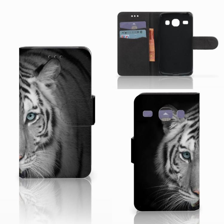 Samsung Galaxy Core i8260 Telefoonhoesje met Pasjes Tijger