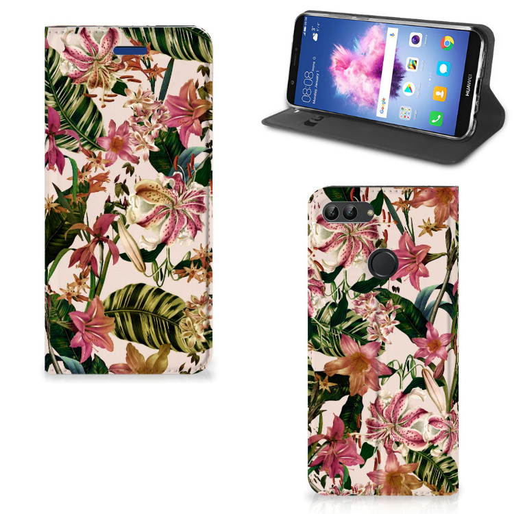 Huawei P Smart Smart Cover Flowers