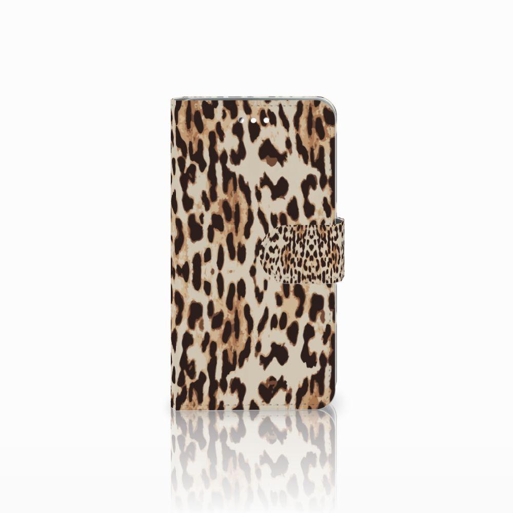 Wiko Harry Uniek Boekhoesje Leopard