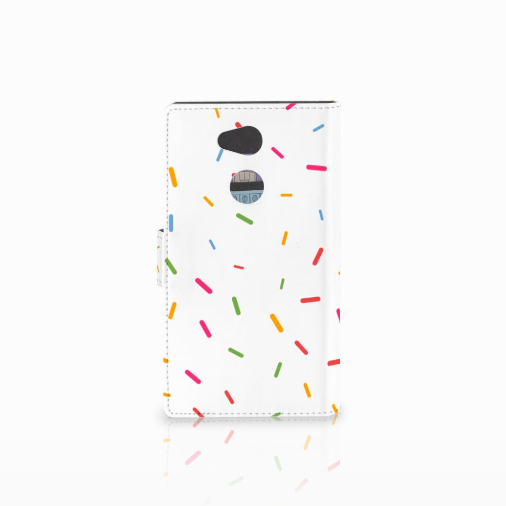 Sony Xperia L2 Book Cover Donut Roze