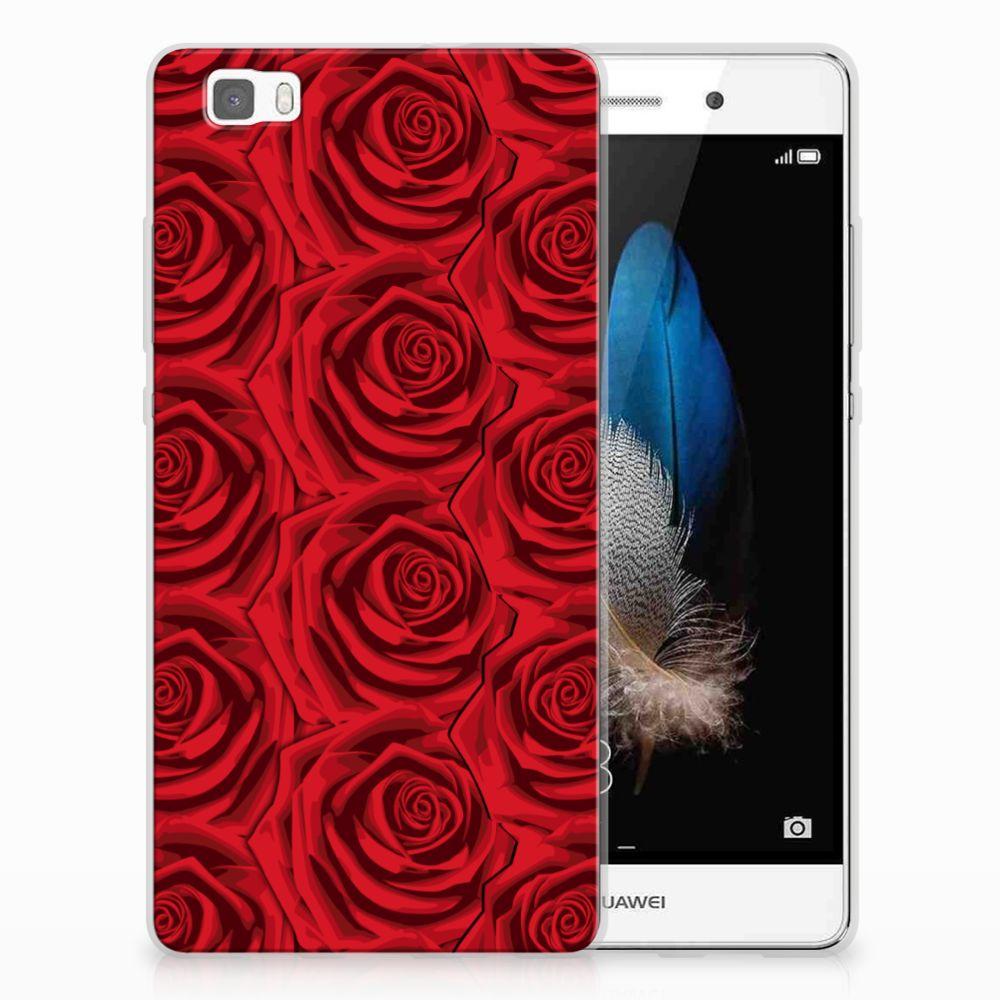 Huawei Ascend P8 Lite Uniek TPU Hoesje Red Roses