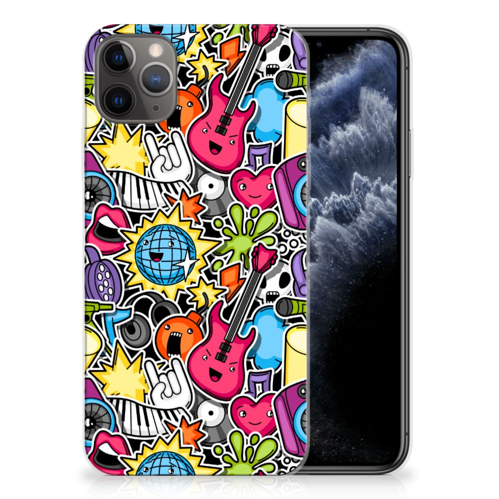 Apple iPhone 11 Pro Max Silicone Back Cover Punk Rock