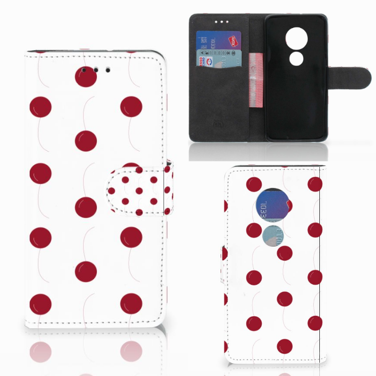 Motorola Moto G7 Play Book Cover Cherries