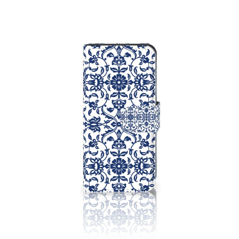 Samsung Galaxy S6 Edge Boekhoesje Flower Blue