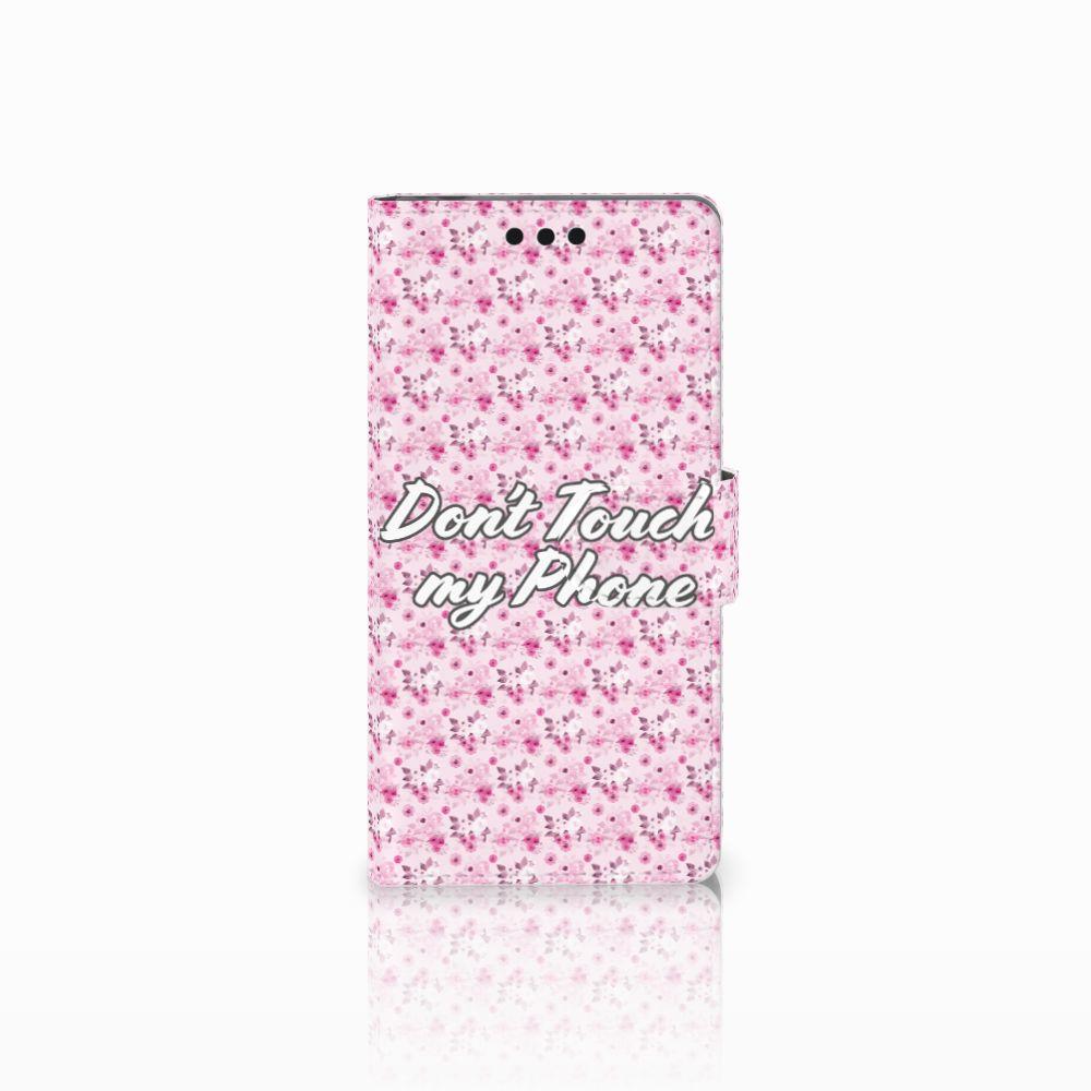 Sony Xperia M4 Aqua Uniek Boekhoesje Flowers Pink DTMP