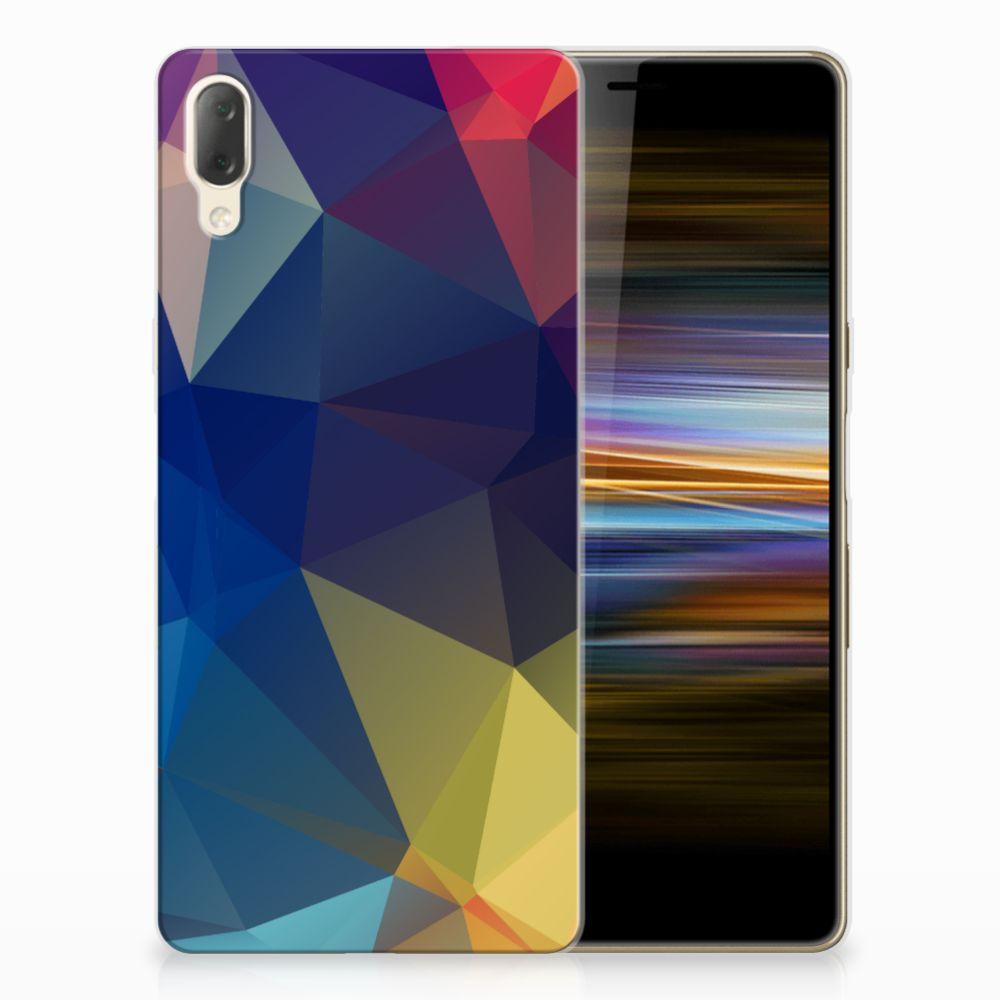 Sony Xperia L3 TPU Hoesje Polygon Dark