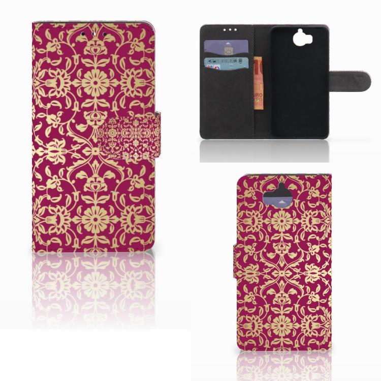 Wallet Case Huawei Y5 | Y6 2017 Barok Pink