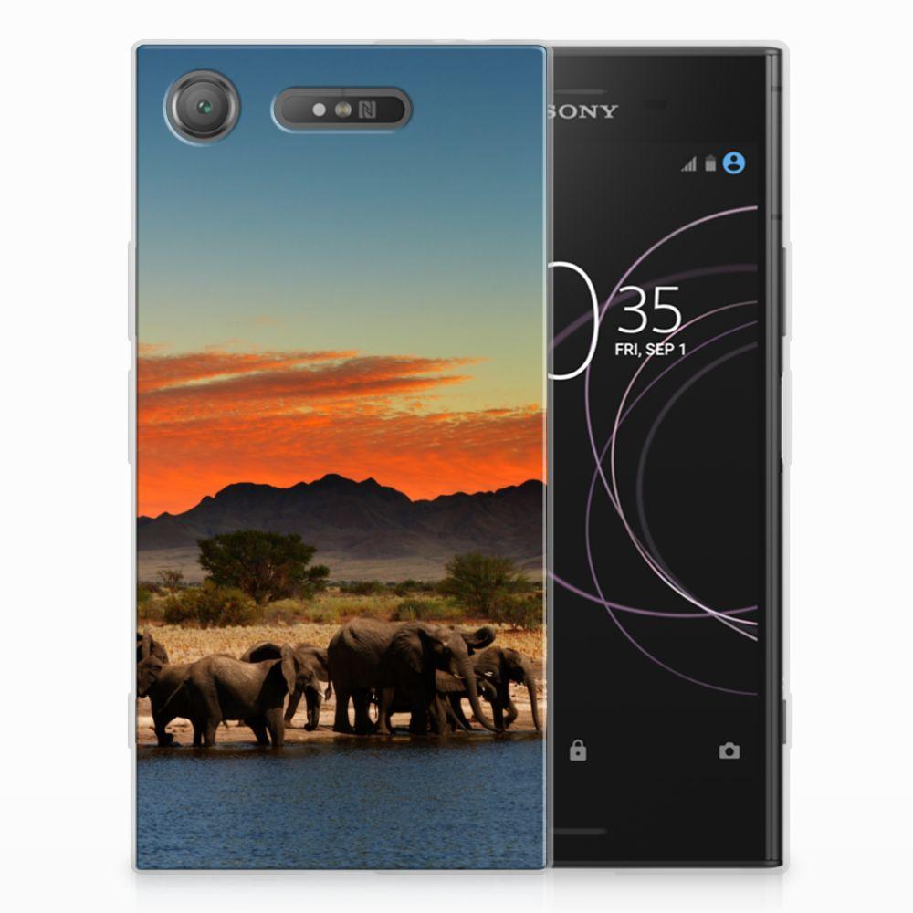 Sony Xperia XZ1 TPU Hoesje Olifanten