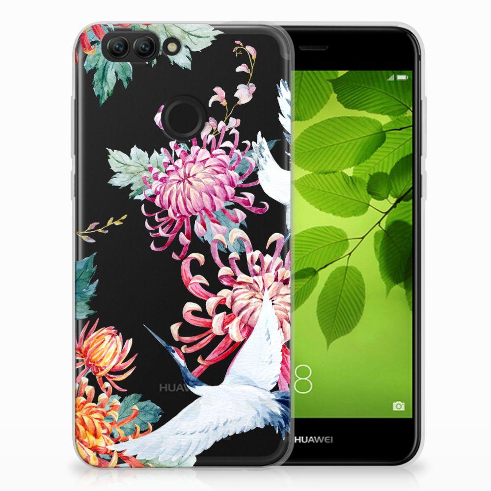 Huawei Nova 2 TPU Hoesje Bird Flowers