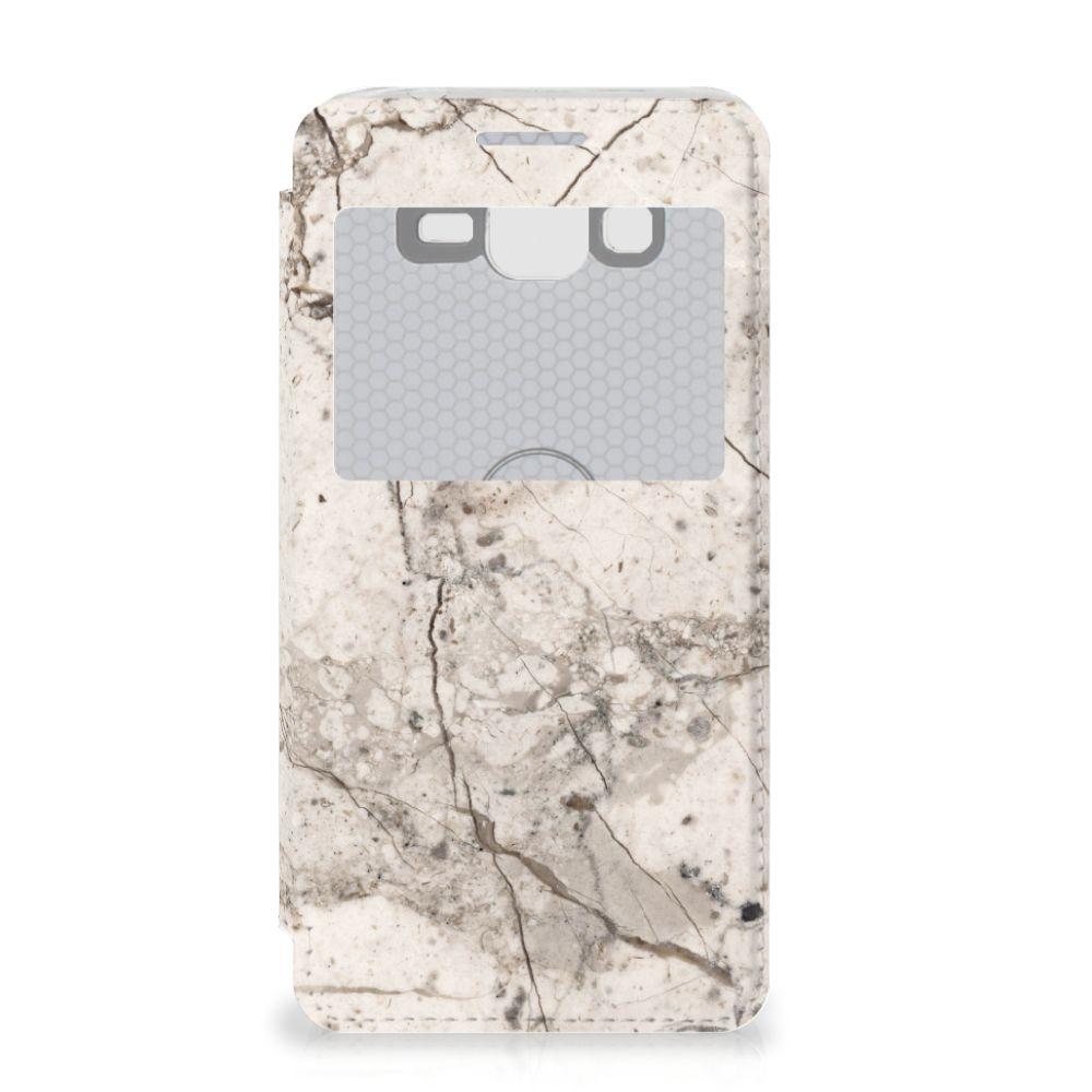Samsung Galaxy Grand Prime Bookcase Marmer Beige