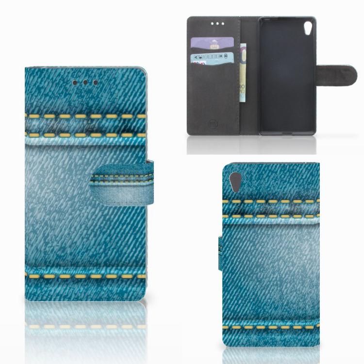 Sony Xperia E5 Wallet Case met Pasjes Jeans