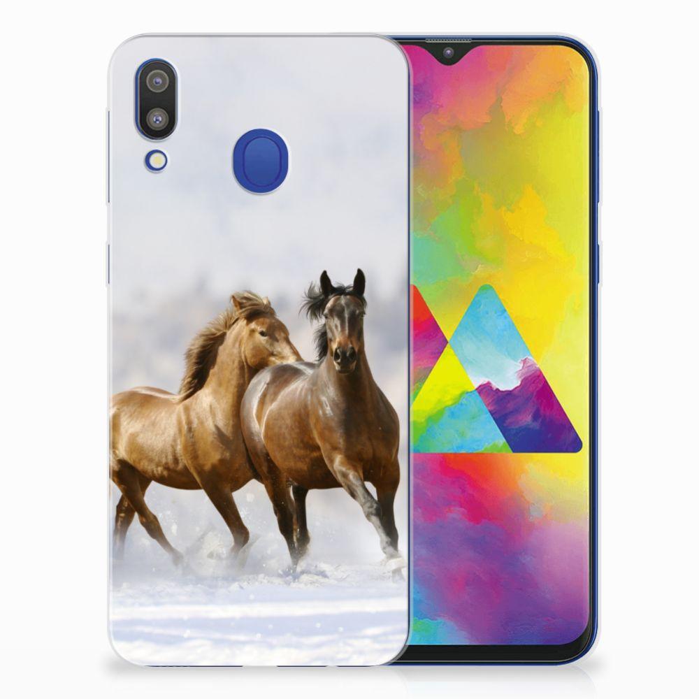 Samsung Galaxy M20 (Power) TPU Hoesje Paarden