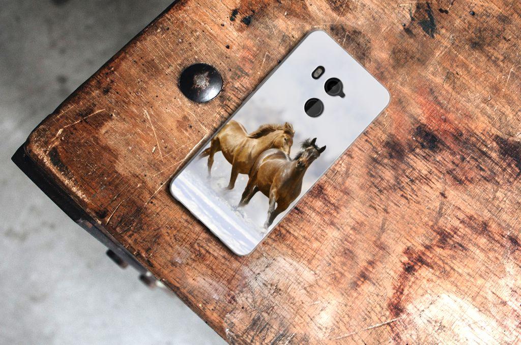 HTC U11 Plus TPU Hoesje Paarden