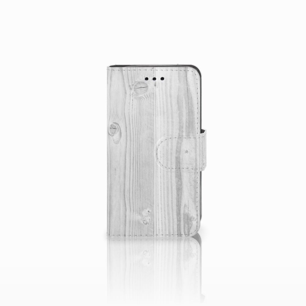Samsung Galaxy Trend 2 Boekhoesje Design White Wood