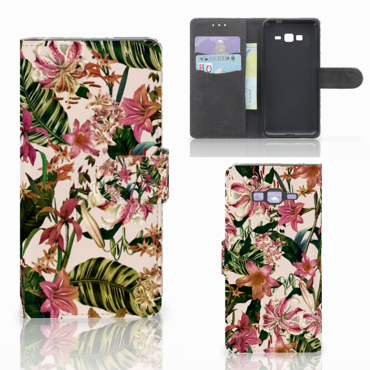 Samsung Galaxy Grand Prime | Grand Prime VE G531F Hoesje Flowers