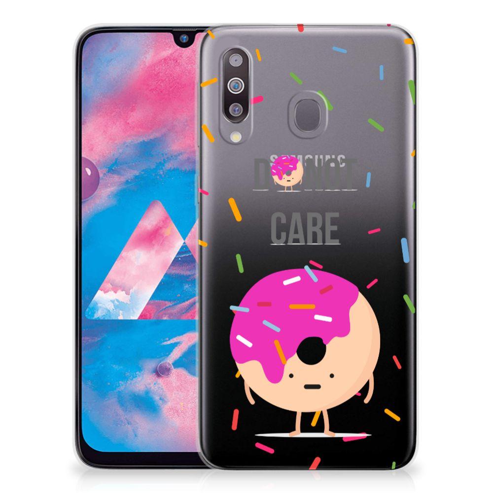 Samsung Galaxy M30 Siliconen Case Donut Roze