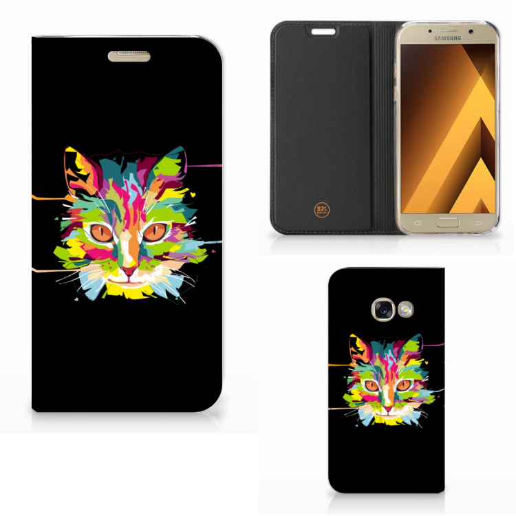 Samsung Galaxy A3 2017 Magnet Case Cat Color