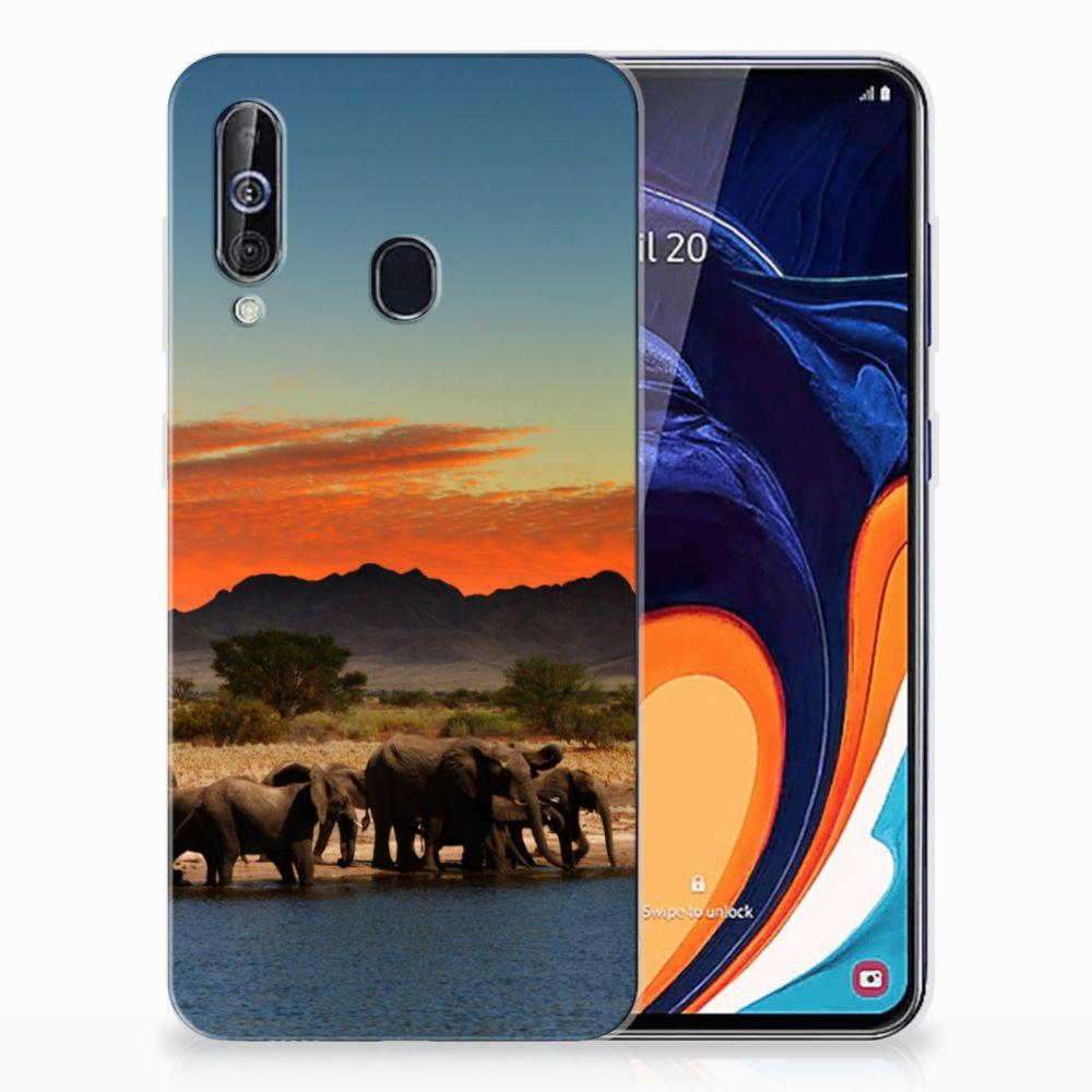 Samsung Galaxy A60 TPU Hoesje Olifanten
