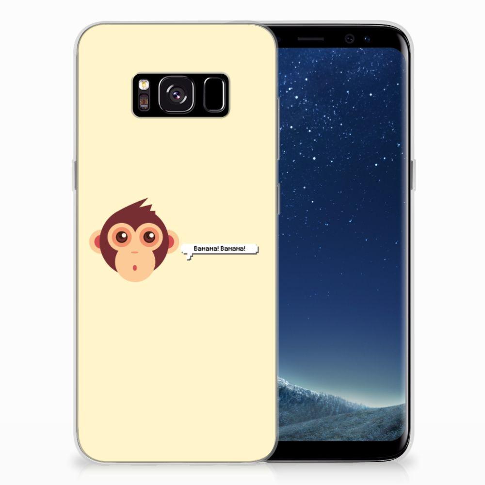 Samsung Galaxy S8 Telefoonhoesje met Naam Monkey