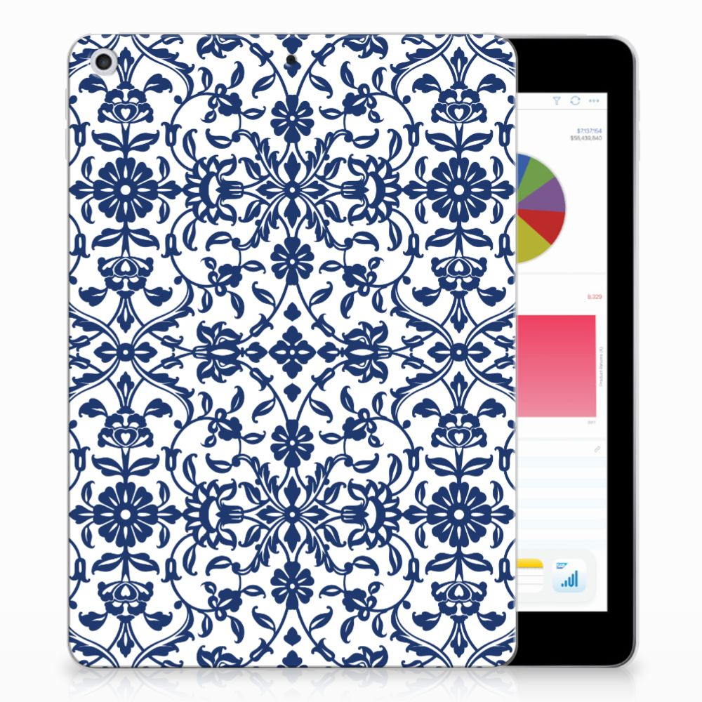 Apple iPad 9.7 2018 | 2017 Tablethoesje Flower Blue