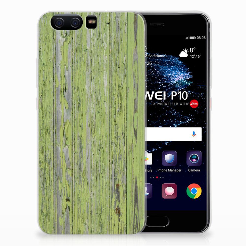 Huawei P10 TPU Hoesje Design Green Wood