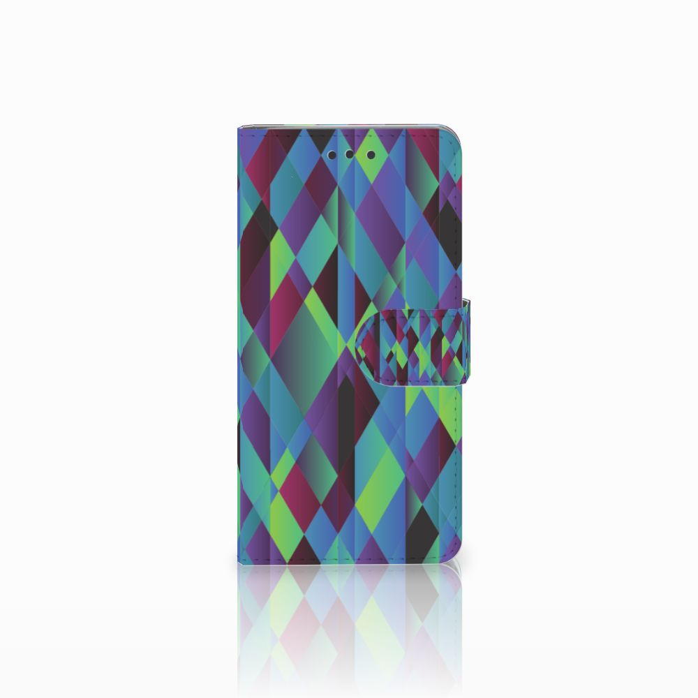 HTC U Play Bookcase Abstract Green Blue