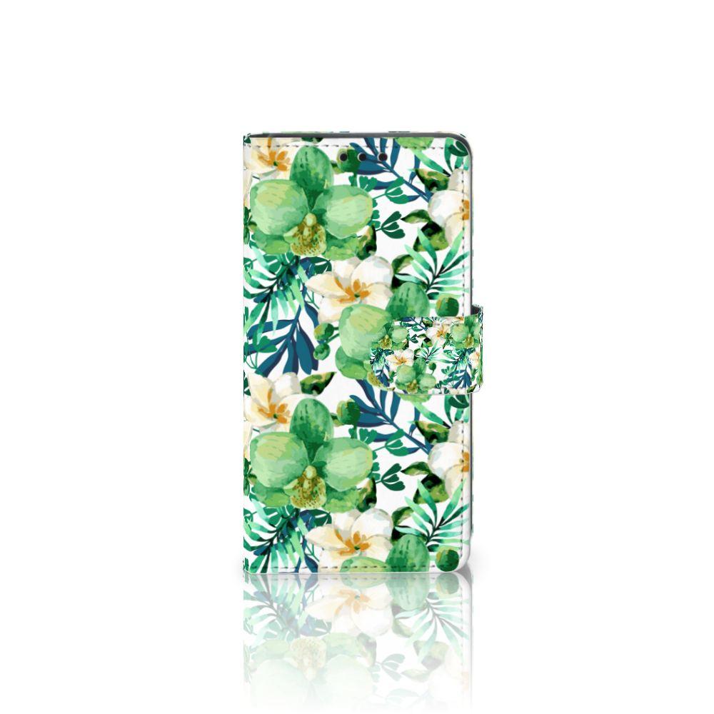 Sony Xperia Z5 | Z5 Dual Uniek Boekhoesje Orchidee Groen