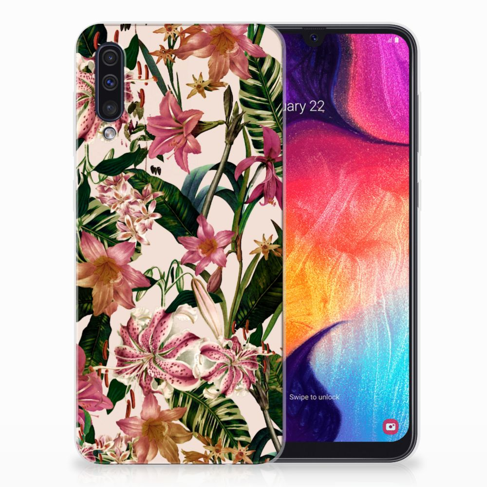 Samsung Galaxy A50 TPU Case Flowers