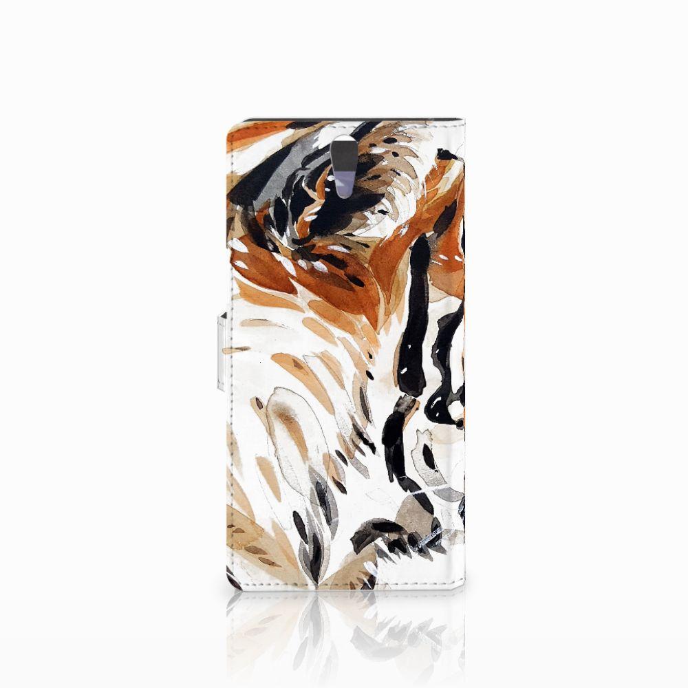 Hoesje Sony Xperia C5 Ultra Watercolor Tiger